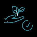 blaues Icon Umweltschutz, Natur, Pflanze, Recycling