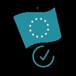 blaue Flagge Europa, EU